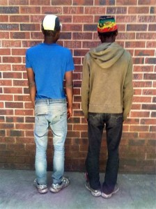 Two daggafarians arrested by Primrose police after officers noticed the two men acting abnormally.